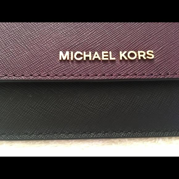 726d69a79076 Michael Kors Bags | Slim Saffiano Leather Wallet Plumblk | Poshmark